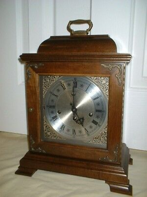 Fully Serviced Hamilton Mantel Shelf Clock Westminster Chime 8-Day 1986 Movement