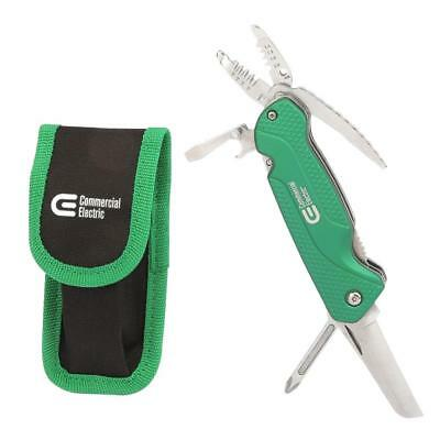 NEW Commercial Electric 7-IN-1 Electrician's Multi-Tool With Pouch 1001 249 232