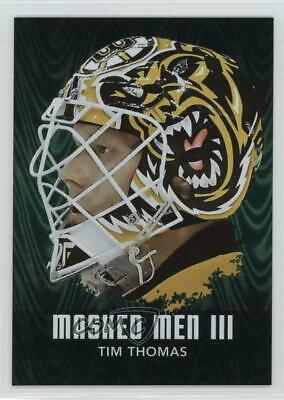 2010-11 In the Game Between Pipes Masked Men III Emerald #MM-48 Tim Thomas Card