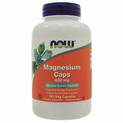 NOW Foods, Magnesium 400mg, 180 Capsules