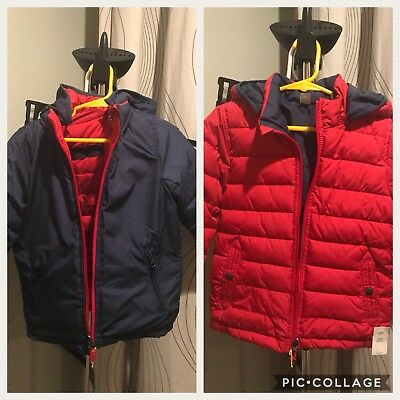 BABY GAP WARMEST JACKET REVERSIBLE W/REMOVABLE HOOD Sz 4T