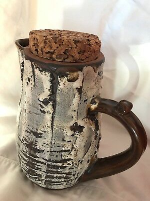 Rare VON (Yvonne) PAUL - Vintage Studio Pottery Pitcher - Canada - Late 20th C.