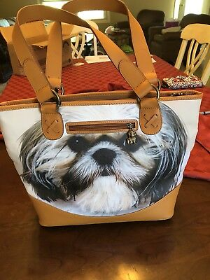 Shih Tzu Handbag Tote Purse by Ardleigh Elliott Faithful Friends Certificate New