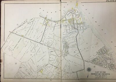 1909 Queens Ny East Elmhurst North Beach St Michaels Cemetery Corona Atlas Map