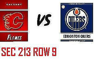 1-2 Tiks Edmonton Oilers Vs Calgary Flames Sept 29 Rogers Place  Sect 213 Row 9