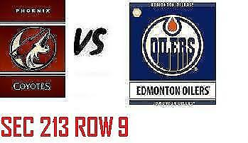 1-2 Tiks Edmonton Oilers Vs Arizona Coyotes Sept 27 Rogers Place  Sect 213 Row 9