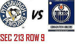 1-2 Tiks Edmonton Oilers Vs Pittsburgh Penguins Oct 23 Rogers Place  Sect 213 R9