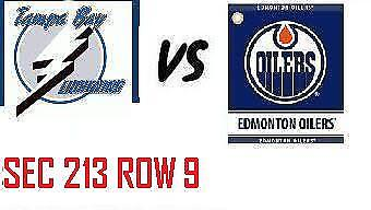 1-2 Tiks Edmonton Oilers Vs Tampa Bay Lightning Dec 22 Rogers Place  Sect 213 R9