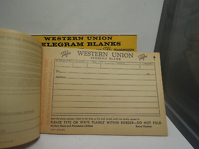 Western Union telegram blank pads 2