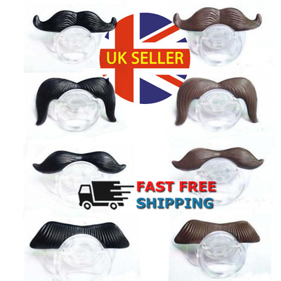 Funny Dummy Dummies Pacifier Novelty Moustache Baby Child Soother FAST&Free P&P