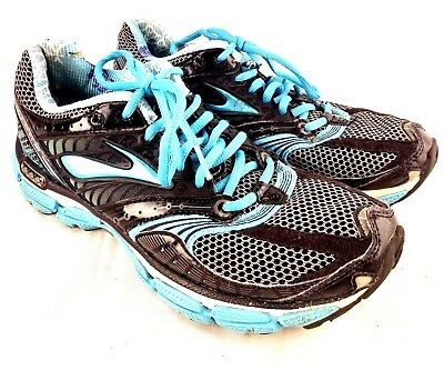 054a6c066613f Brooks Glycerin 9 Women Size US 9 Eu 40.5 Running Shoe Black Aqua Silver  175-