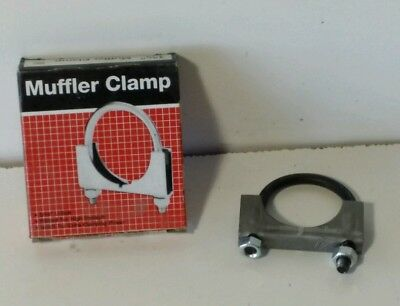 """2-3//4/"""" muffler exhaust U bolt pipe clamps heavy duty new but rusty 4 pc lot"""