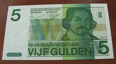 Netherlands 1973 5 Gulden Note P95