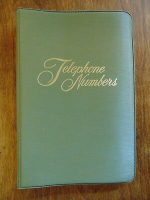 Vintage Telephone Numbers Small Binder w/Pages & Dividers