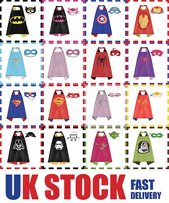 Children's Superhero Cape and Mask Set UK STOCK FREE DEL Superhero