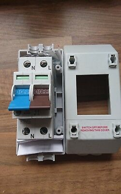 Wylex 100A 2 Pole Isolator Main Switch With Enclosure. X3