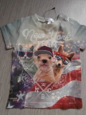 TEE SHIRT NEUF TAILLE 12 MOIS chihuahuas