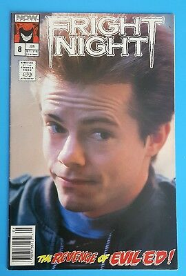 Fright Night #8 Evil Ed Photo Cover NOW COMICS 1989 Horror Comic Book NEWSSTAND