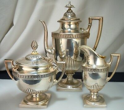Antique Russian Silver Coffee Set 3pc - 1455g                52646