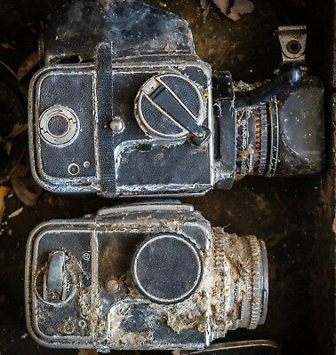 TWO REALLY MOLDY hasselblad 500 c cameras with 80mm lens and back