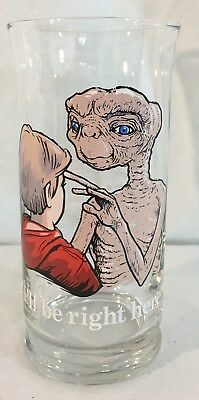 1982 Pizza Hut E.T. I'll Be Right Here Limited Edition Collector's Series Glass