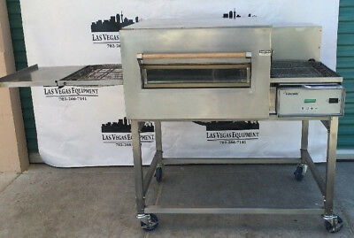 LINCOLN IMPINGER Model 1132 PIZZA OVEN on STAND w/ CASTERS 3 Phase Electric