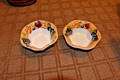 "Lot of 2 Sonoma Villa 7"" Soup-Cereal Bowl by Home Interiors Handpainted"