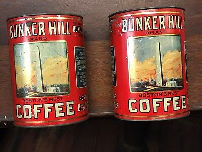 Antique Bunker Hill Coffee Tins