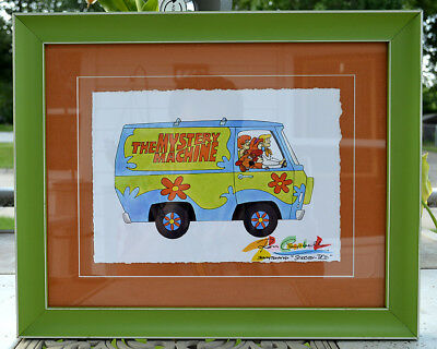 Ron Campbell Signed Original Scooby Doo Storyboard*Mystery Machine*Matted-Framed