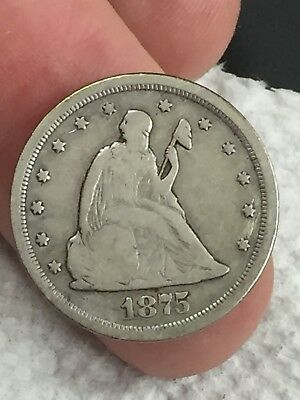 1875 S Twenty Cent Piece Seated Liberty Coin VG