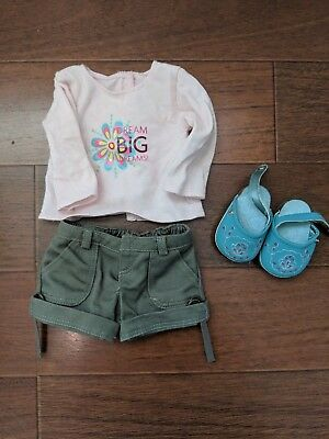 Set of 2 American Girl Doll summer outfits with shoes