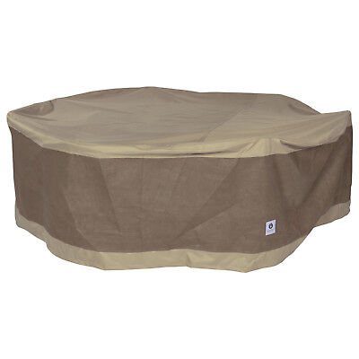 Duck Covers Elegant 76 in. DIA Round Patio Table & Chair Set Cover