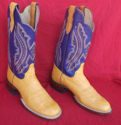 Fancy High Quality Justin Women's Ostrich Cowboy Boots Size 9B - No Reserve
