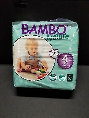 Bambo Nature Premium Baby Diapers, Size 4, 30 Count / 5 packs