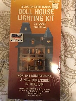 "Elect-A-Lite Basic Dollhouse Lighting Kit E-120, 12 Volt System ""SEALED & NEW"""