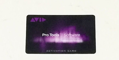 Avid Pro Tools 2018 12 2018 12.8.3 Annual Subscription Software Activation Card