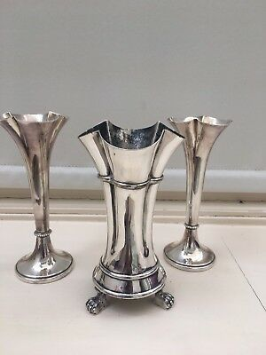 3 Silver Plate Vases Sheffield Plate??