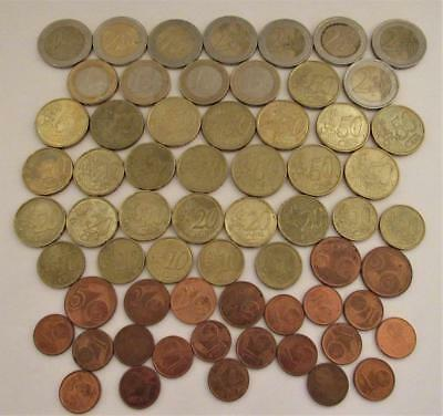 Coin Lot Euro Europe Dollars Cents European Collection Money $ Need Exchange $