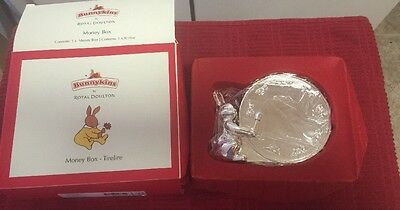 Bunnykins Silver Plate Money Box Baby Gift Royal Doulton NEW IN BOX!