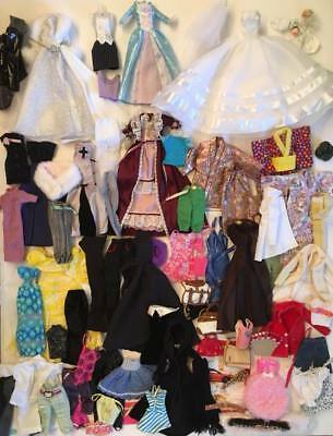 Huge Mixed Lot of Barbie Doll Clothes including Wedding Dress and 3 Kimonos