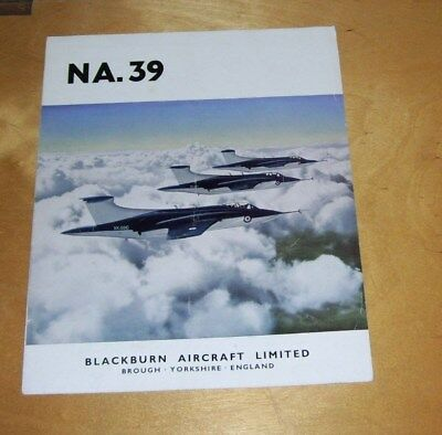 Blackburn Na.39 Two Seat Low Level Strike Aircraft  Brochure. Poor Condition