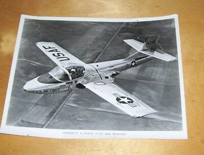 CESSNA AIRCRAFT 1,000th T-37 JET TRAINER PRESS PHOTOGRAPH  USAF Serial 14745