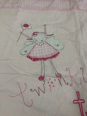 John Lewis Cot Bed Duvet Cover and Pillow Case set Pink Fairy Girls Bedding