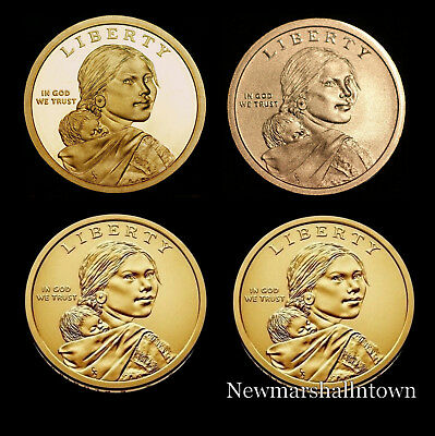2017 P+D+S+S Native American Sacagawea Set ~ Proof, Enhanced and PD Mint Roll