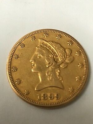 1899 S Gold Eagle Coin Liberty