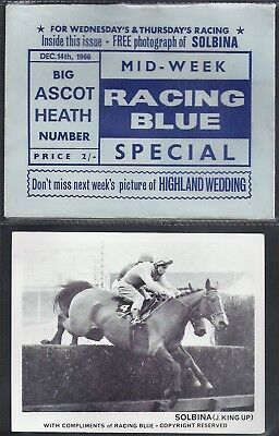 Racing Blue-Horse Racing- Solbina (Card+ Original Envelope)