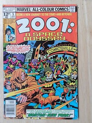2001: A SPACE ODYSSEY # 5 - Classic Jack Kirby - HIGHER GRADE - Marvel 1976