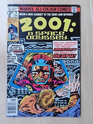 2001: A SPACE ODYSSEY # 6 - Classic Jack Kirby - MID GRADE - Marvel 1976