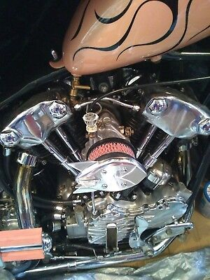 Rocket bird deflector, Custom assembly & colored filter fit S&S. Harley, chopper