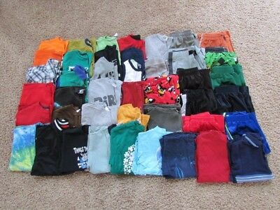 Boys Size 10/12 Summer/Fall Clothing Lot Of 42 Pieces ~EUC ~Nike, Starter+ LOT 2
